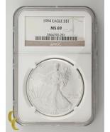 1994 Plateado 1oz American Eagle NGC Graduado MS69 - $123.74