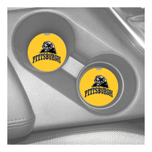 PITTSBURGH PANTHERS  RUBBER CAR COASTERS SET (2) ACC - $9.20