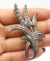 DANECRAFT 925 Sterling Silver - Vintage Wheat Stalk Bunch Brooch Pin - BP2606 - $67.76