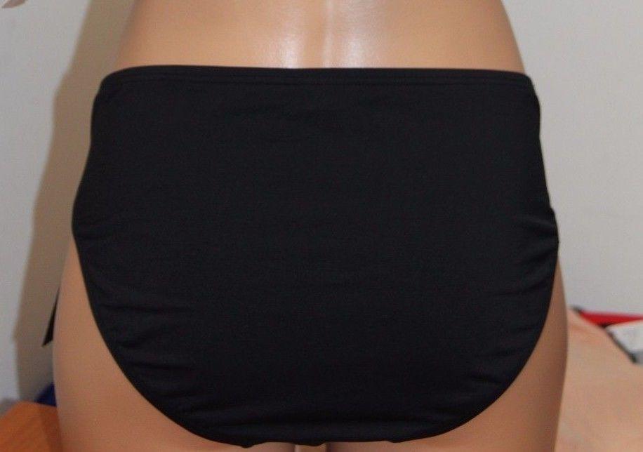 New Coco Reef Swimsuit Bikini Bottom Size XL Black Star Drapped Bottom image 3