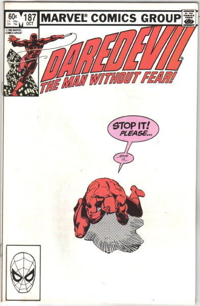 Daredevil Comic Book #187 Marvel Comics 1982 NEAR MINT NEW UNREAD