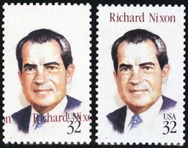 2955, 32¢ Nixon Amazing Color Shift Error With Normal - Stuart Katz - $85.00