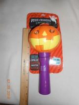 New Hallmark Voice Changing Microphone Halloween pumpkin eyes light up - $19.79