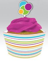 Happy Dots Cupcake Wrappers with Picks 144ct - $19.59