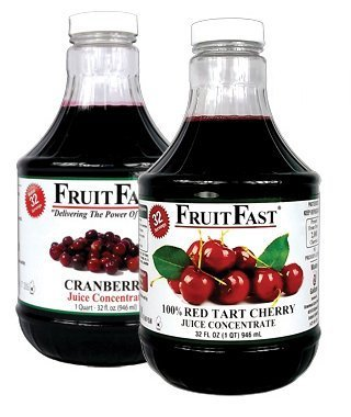 "Primary image for 1 QUART Tart Cherry & 1 QUART Cranberry ""Cold Filled"" Juice Concentrates - Shipp"