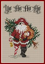 Yo Ho Ho Ho Post Stitches pirate cross stitch chart with charm Sue Hillis Design - $5.40