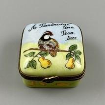 Limoges France Peint Main A Partridge In A Pear Tree Christmas Pill Trin... - $178.19