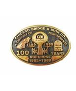100 Years Chicago Bridge Iron Works Norcross Hebilla de Cinturón por Ana... - $148.48