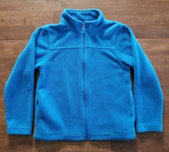 Bass Pro Shop Boys Fleece Jacket Size Medium 10 Blue Full Zipper Thick Warm - $9.99