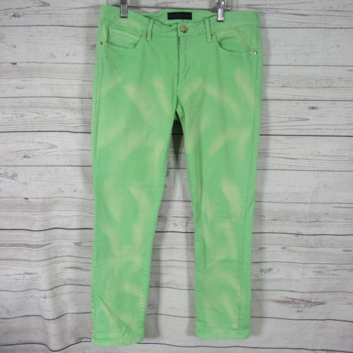 Juicy Couture Womens Jeans Size 30 Green Bleach Wash Pants