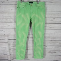 Juicy Couture Womens Jeans Size 30 Green Bleach Wash Pants - $27.54