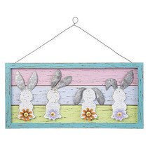Darice Easter Pastel Bunnies Framed Wall Plaque, 20 x 10 inches w - $39.99