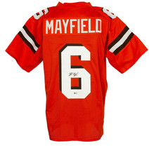 Baker Mayfield Signed Custom Orange Pro-Style Football Jersey BAS - $341.54