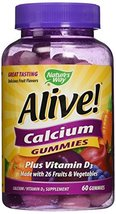 Nature's Way Alive! Calcium Gummies Plus Vitamin D3 - 60 CT - $16.83