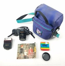 Canon T50 Camera With 50mm F1.8 Flash 224T Case Manual And Polarizer - $65.25