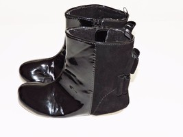 GAP True Black Holiday Boots V2 Modern Bow Zip Slip On Dressy Preschool ... - £15.22 GBP