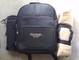 Set 4 Picnic at Ascot Black Picnic Backpack Kickshaw Tavern Grill Alphre... - $69.29