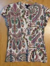 Women's Paisley Blouse By Tommy Hilfiger / Size L - $5.99