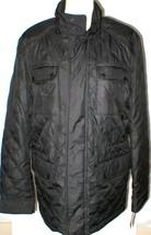 New NWT M Mens Coat Michael Kors Black Jacket Hidden Rain Hood Zip Pocke... - $180.00