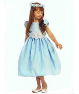 Chic Baby Light Blue/White Tea Length Pageant Party Holiday Dress, 2, 4,... - $54.99