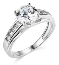 3 Ct Round Brilliant Cut Engagement Wedding Ring 14K White Gold Over 925... - £48.25 GBP