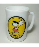 1969 Avon Peanuts Lucy Mug Cup, Milk Glass, Charlie Brown, Vintage, 5 oz... - $12.82