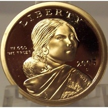 2005-S Proof Sacagawea Dollar DCAM #0586 - $4.79