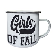 Girls of fall Retro,Tin, Enamel 10oz Mug t931e - $13.13