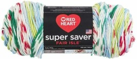 Red Heart Super Saver Fair Isle Winter Knitting & Crochet Yarn - $8.00