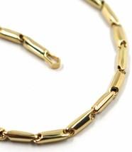 18K YELLOW GOLD BRACELET ROUNDED ALTERNATE TUBE LINKS, length 21 cm, 8.2 inches image 2