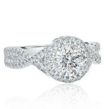 1.60 Ct Round Cut Halo White Diamond Bridal Engagement  Ring Set 925 Silver - $135.00