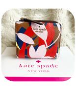 KATE SPADE JACKSON TROPICAL TOSS SMALL NO WINDOW L ZIP BIFOLD WALLET PIN... - $48.39
