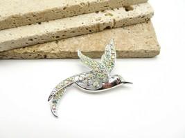 Vintage Sarah Coventry AB Rhinestone Silver Tone Bird Brooch Pin F69 - $20.99