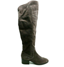 Via Spiga Womans Tall Knee High Boots Grey Suede Cushioned Insoles Sz 10... - $59.36