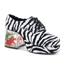"FUNTASMA Pimp-02 Series 3 1/2"" Heel Platform Shoes - Zebra Fur - $65.95"