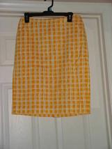 Talbots Yellow & White Skirt Size 4 - $24.00