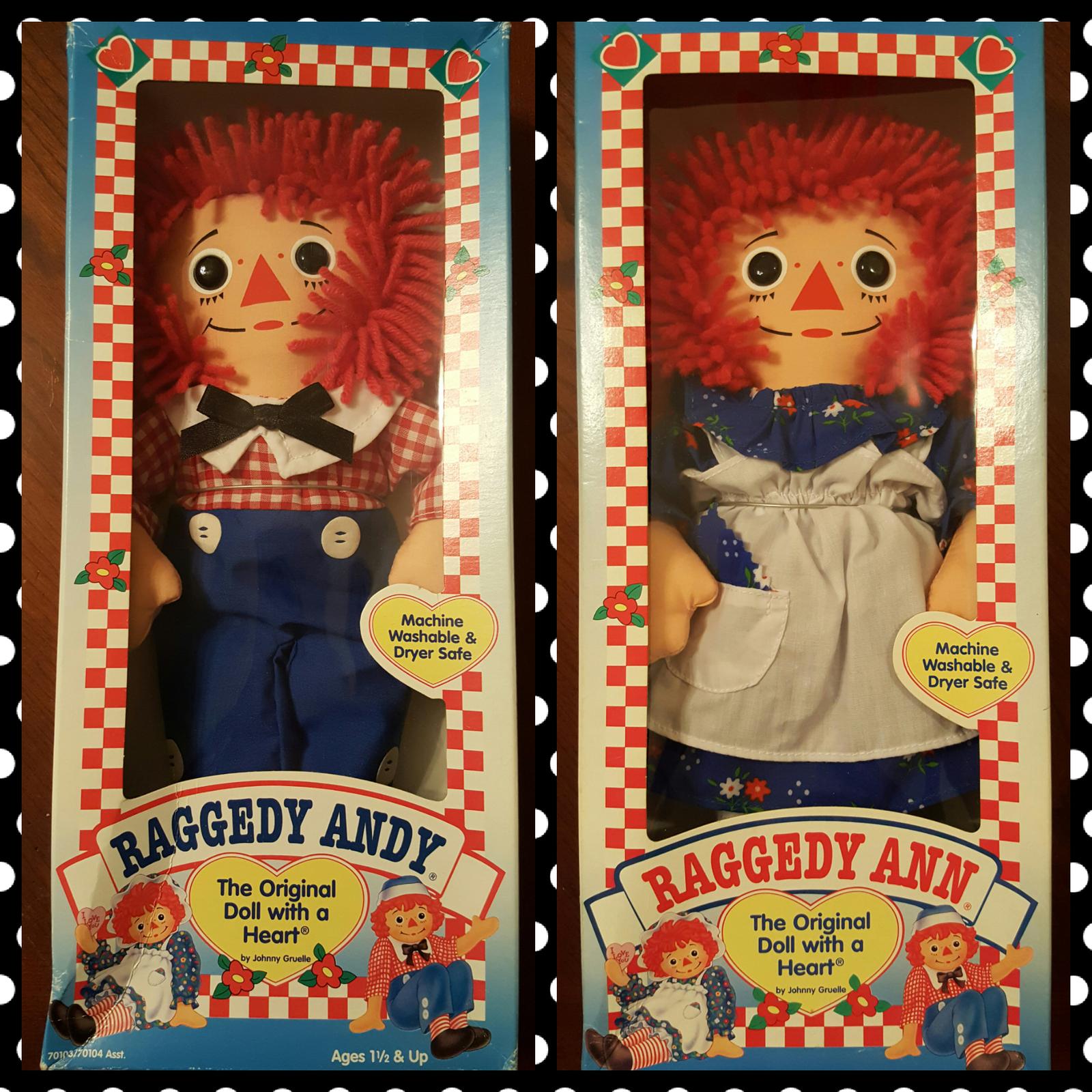 Hasbro Raggedy Ann and Andy Rag Dolls NIB 1996