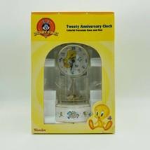 TWEETY ANNIVERSARY CLOCK COLORFUL PORCELAIN BASE AND DIAL WESTCLOX NIB - $48.33
