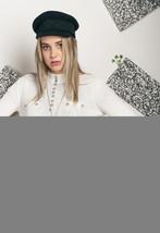80s vintage knit mock neck top - $34.37