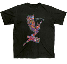 Santana-Supernatural Angel-X-Large Black T-shirt - $22.24