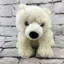 Destination Nation Polar Bear Plush Sitting Stuffed Arctic Animal Soft Teddy Toy - $9.89