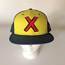 Marvel Comics X Baseball Hat Cap 59 Fifty New Era 7 3/4 Blue Yellow Red - $37.39