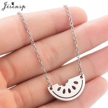 Jisensp Choker Stainless Steel Watermelon Necklaces Pendants for Women C... - $9.33