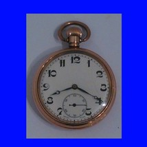 Vintage 14k Gold Swiss 15 Jewelled  Pocket Watch 1925 - $240.60