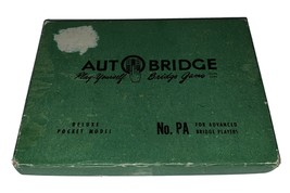 VINTAGE AUTO BRIDGE NO. PA DELUXE POCKET MODEL GAME 1957 - $15.83