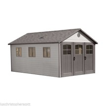 New! LARGE Outdoor Garden Shed 11 x 21 ft. Tri-Fold Door Window Storage ... - $4,565.13