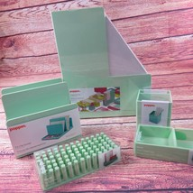 Poppin Mint Green Office Supplies Desk Accessories Set 5 Piece - €47,92 EUR