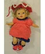 Cititoy TC10B * Baby Doll with Crochet Outfit Plastic Fabric - $20.21