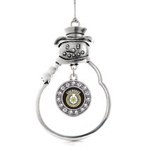 Inspired Silver Cherokee Circle Snowman Holiday Christmas Tree Ornament With Cry - $14.69