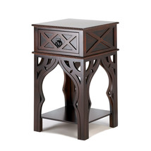 Ornate Moroccan Style Brown Table - $163.04